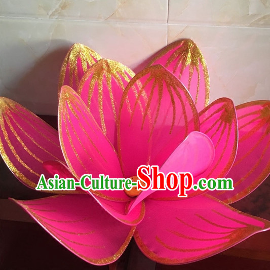Big Beautiful Handmade Lotus Stage Performance Dance Props Dancing Prop Decorations