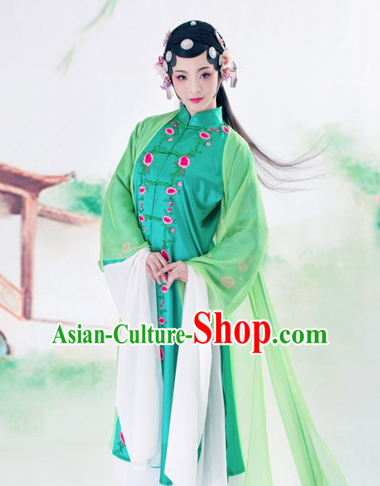Chinese Classic Mandarin Hanfu Costumes and Headdress Complete Set for Women