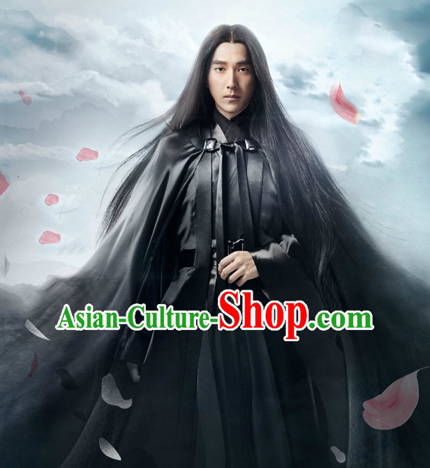 Chinese Ancient Swordsman Knight Costume Complete Set for Men