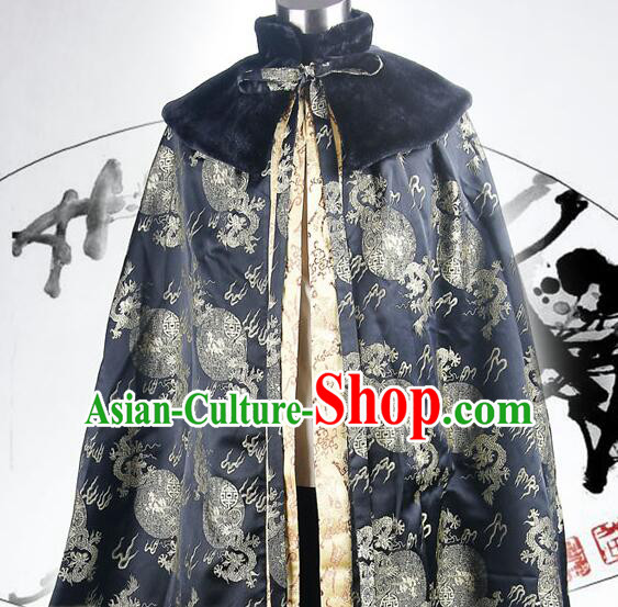 Ancient Chinese Emperor Long Winter Cape Mantle