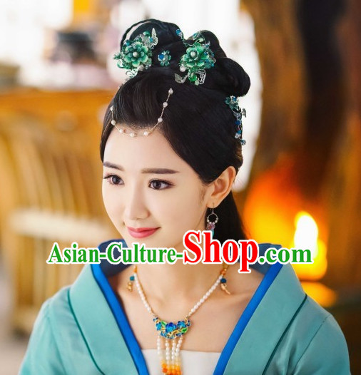 Ancient Chinese Fairy Black Wig Wigs and Hair Jewelry