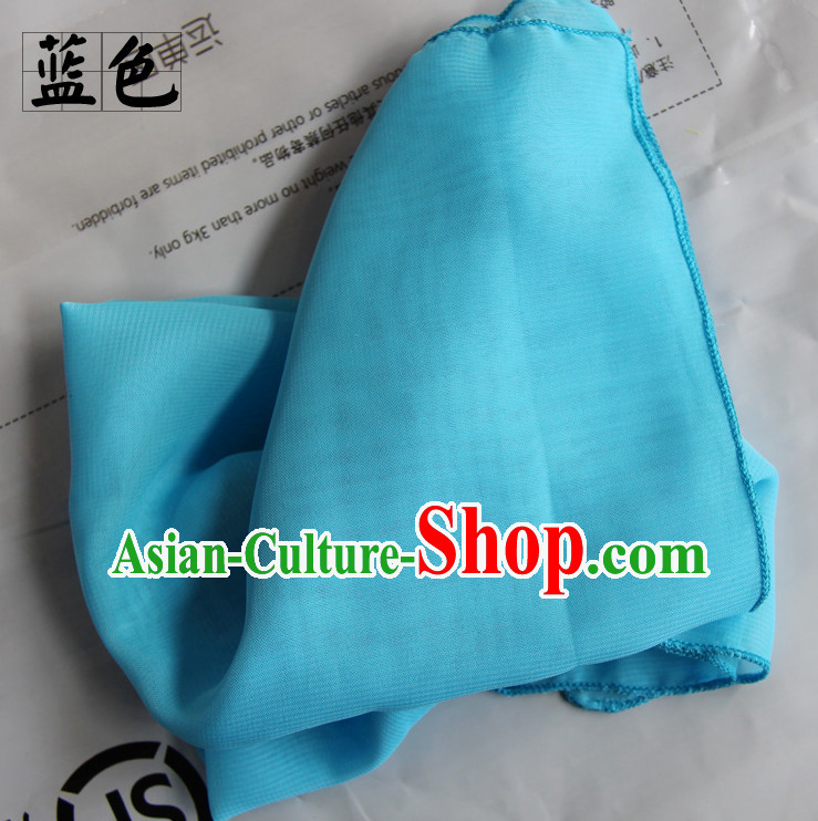 Blue Chinese Classcial Dancing Props Handkerchief
