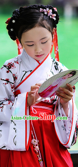 Ancient Chinese Hanfu Dress China Traditional Clothing Asian Long Dresses China Clothes Fashion Oriental Outfits for Kids