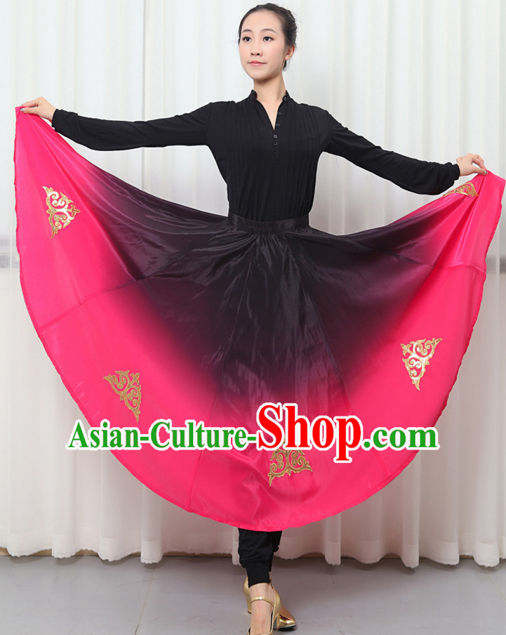 Traditional Chinese Folk Dance Costumes for Women or Girls