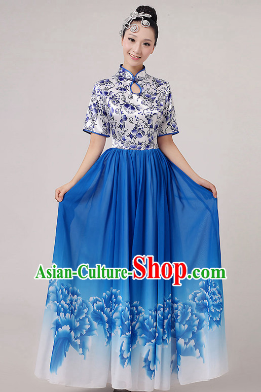 Traditional Chinese Dancewear Costumes Dancer Costumes Girls Dance Lyrical Dance Costume Ballroom Comtemporary Recital Dancewear Costume