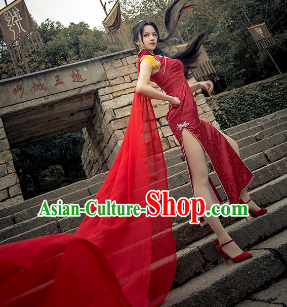 Traditional Chinese Style Sexy Cheongsam Cosplay Dress for Women