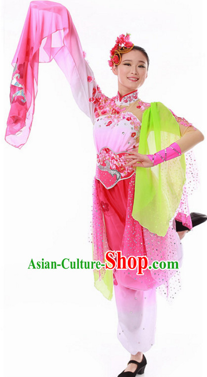 Ancient Chinese Classical Dance Costume and Hat for Ladies