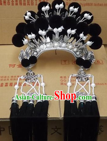 Chinese Headdress Opera Stage Performance Phoenix Crown Hat for Adults Kids Children Women Girls