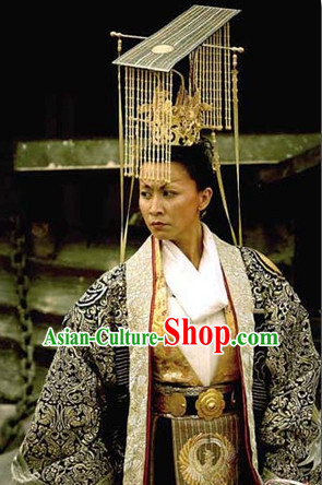 Top Chinese Headdress Empress Emperor Queen Film Crown Hat for Adults Kids Children Women Girls