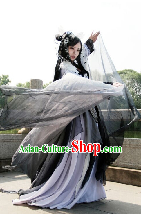 Asian Chinese Fairy Hanfu Dress Costume Clothing Oriental Dress Chinese Robes Kimono for Women Gilrls Adults Children