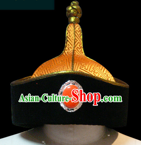 Genghis Khan Mongolian People Yuan Dynasty Mongolians Hat for Men Boys Adults Children