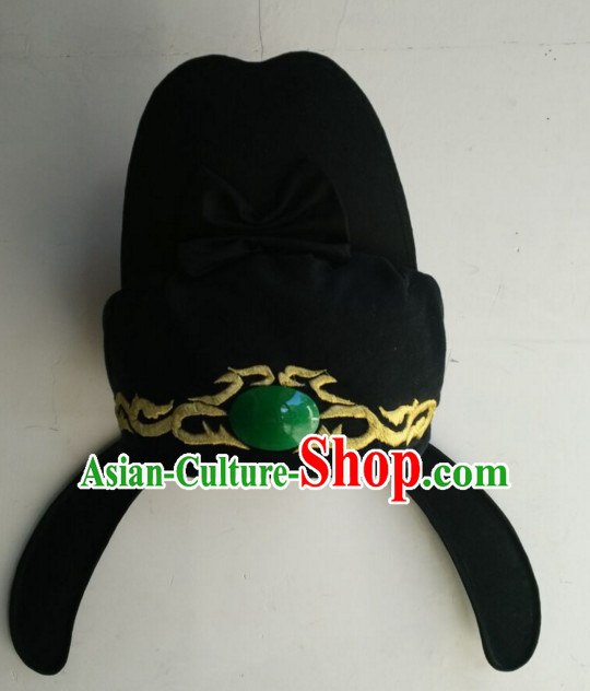 Ancient Asian Chinese Headdress Oriental Headwear Tang Dynasty Hat for Men Boys