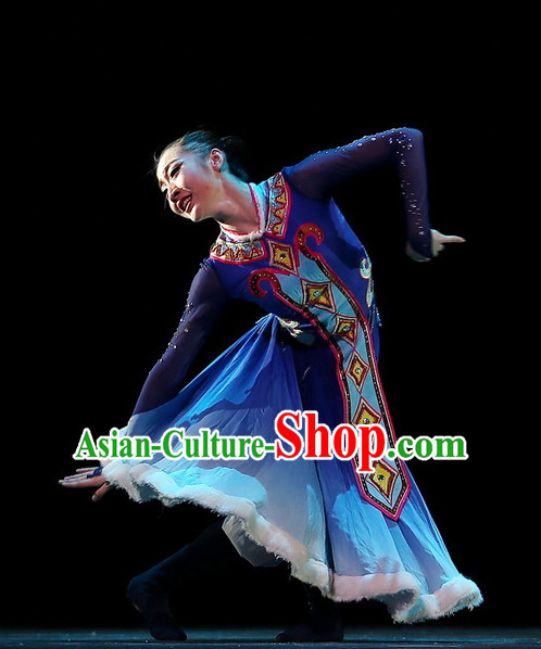 Chinese Traditional Mongolian Dance Costumes Complete Set for Women or Gilrs