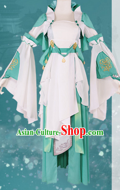 Chinese Superheroine Cosplay Costumes and Headdress Complete Set for Women
