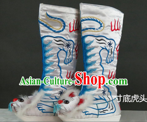 Chinese Traditional Bian Lian Mask Change Tiger Head Boots