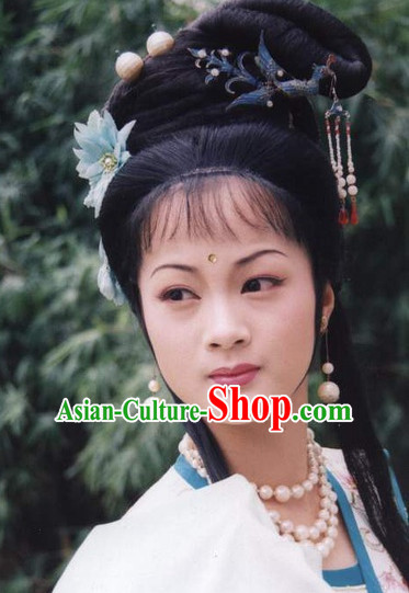 Journey to the West Drama Fairy Black Wigs and Hair Accessories for Women