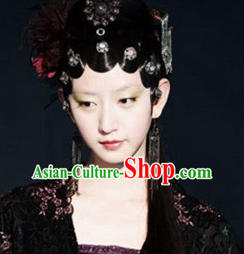 Ming Dynasty Beauty Qin Keqinn Hairstyles Black Wigs for Women or Girls