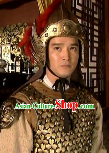 Tang Dynasty Male Hairstyles General Helmet for Men