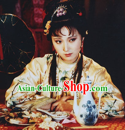 Dream of Red Chamber Lin Daiyu Black Long Wig for Women or Girls