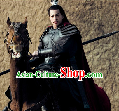 Asian Ancient Chinese Superhero Lv Bu Warrior Body Armor Costume for Sale Complete Set for Men or Boys