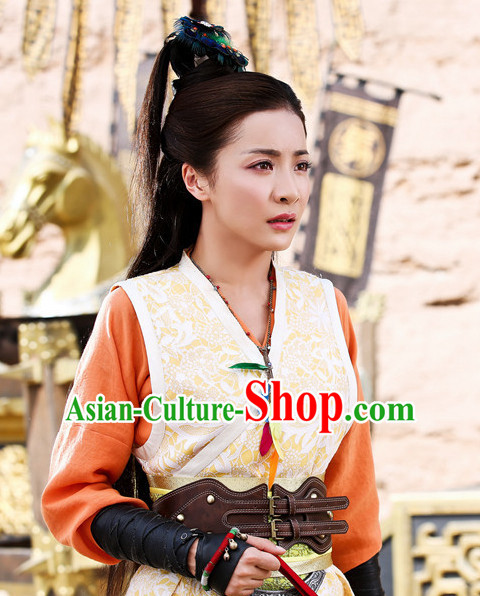 Ancient Chinese Beauties Kung Fu Master Female Black Wigs and Hair Styling Accessories Hair Clips Hairpins Jewelry