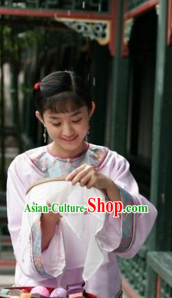 Qing Dynasty Traditional Chinese Lady Black Long Wig Wigs for Women Girls