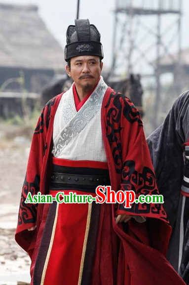 Ancient Chinese Style Minister Dress Authentic Clothes Culture Costume Han Dresses Traditional National Dress Clothing Complete Set for Men