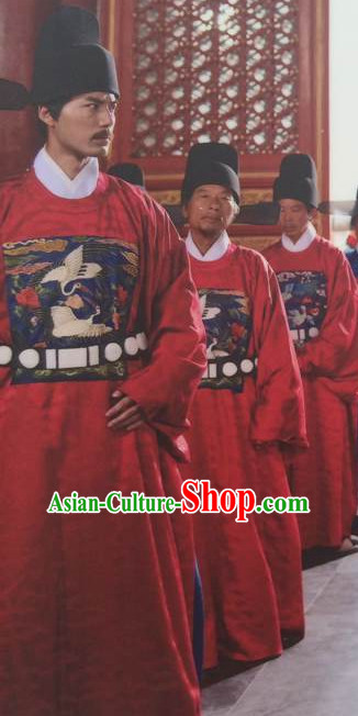 Ancient Chinese Style Official Dress Authentic Clothes Culture Costume Han Dresses Traditional National Dress Clothing and Hat Complete Set for Men