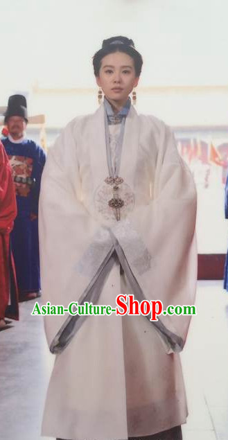 Chinese Ancient Ming Dynasty Female Official Hanfu Dress Authentic Clothes Culture Costume Han Dresses Traditional National Dress Clothing and Headdress Complete Set