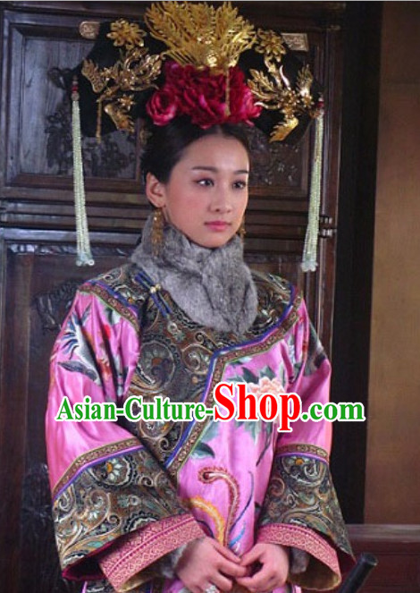 Qing Dynasty Chinese Traditional Style Hair Accessories for Women Girls