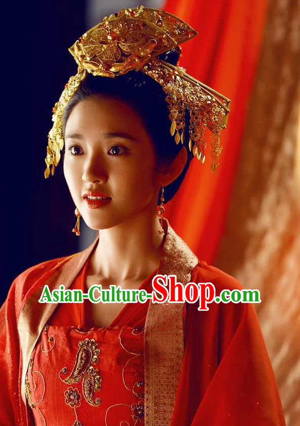 Ancient Chinese Traditional Style Princess Wedding Hair Accessories for Women Girls