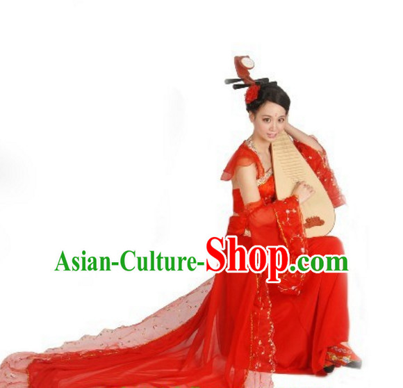 Chinese Classical Dance Costumes and Headdress Complete Set for Men