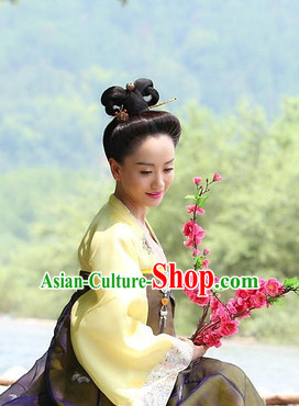 Ancient Chinese Style Palace Lady Black Long Wigs