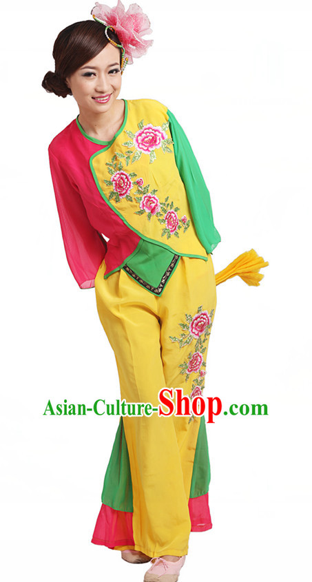 Chinese Traditional Dance Costumes Complete Set for Women