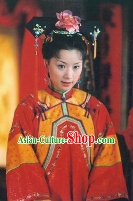 Qing Dynasty Palace Lady Hair Jewelry Set