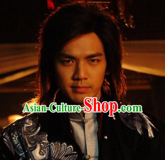 Traditional Chinese Style Male Short Black Wigs