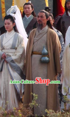 Ancient Chinese Style Male Civilian Costumes Dress Authentic Clothes Culture Traditional National Clothing Complete Set