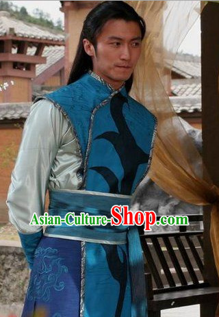 Ancient Chinese Style Knight Male Costume Complete Set for Men