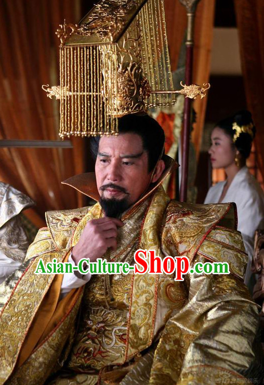 Traditional Ancient Chinese Style Male Emperor Hat for Men
