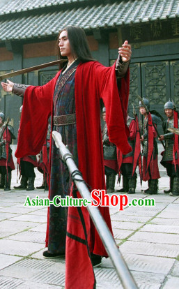 Traditional Chinese Ancient Hanfu Male Suits Clothes Garment Complete Set