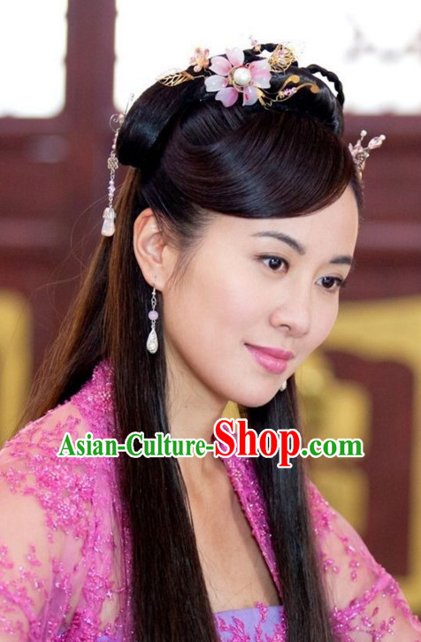 Traditional Ancient Chinese Style Black Full Wigs for Women