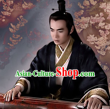 Ancient Chinese Style Hanfu Clothing Complete Set for Men