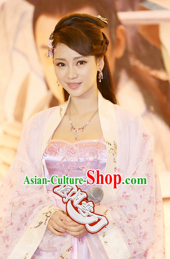 Chinese Traditional Style Black Long Wigs for Women