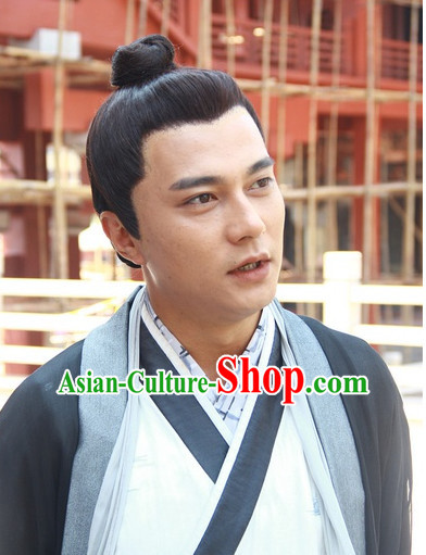 Chinese Traditional Style Black Wigs for Men