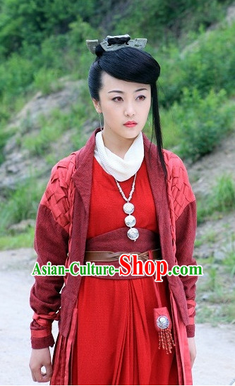 Ancient Chinese Style Nv Xia Costumes Complete Set