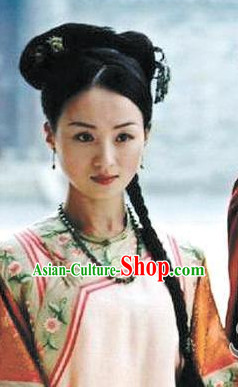 Chinese Traditional Style Long Black Wig for Women