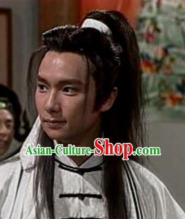 Ancient Chinese Traditional Style Black Full Wigs for Men