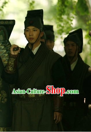 Traditional Chinese Ancient Servant Costumes Suits Complete Set
