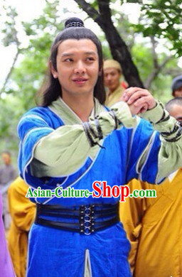 Traditional Chinese Ancient Kung Fu Men Suit Complete Set