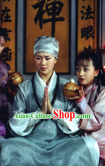 Custom Made Ancient Chinese Style TV Drama Film Taoist Costume Clothing and Hairpieces Complete Set